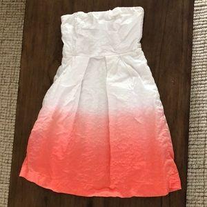 J.Crew dip dye dress